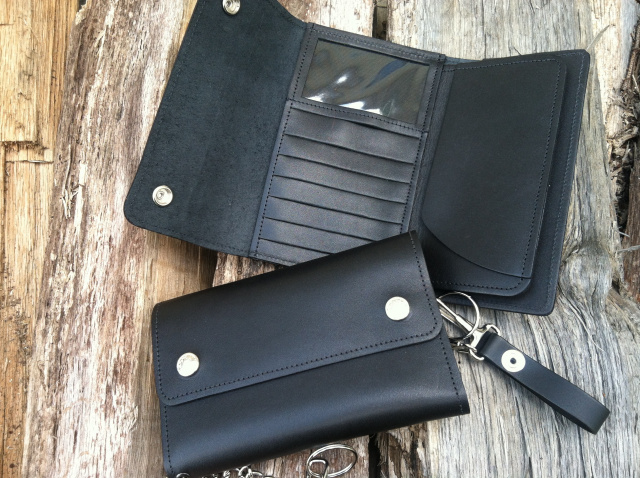 Biker wallet with credit card slots taking a gamble on wedded bliss
