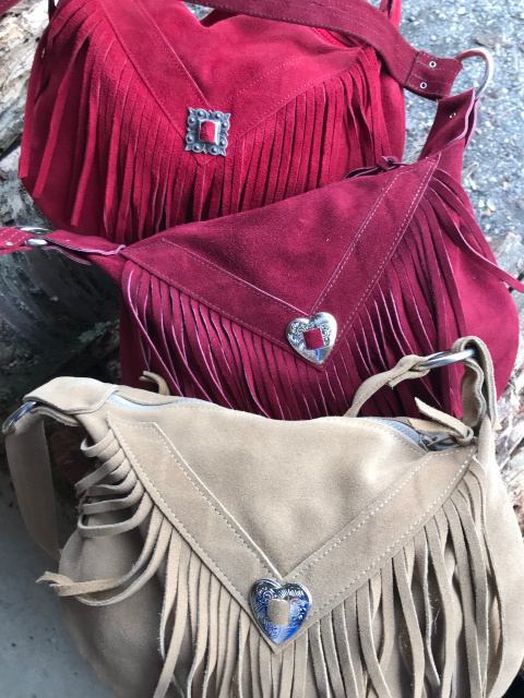 Large Suede Fringe Bag - Without extra handle extender chains