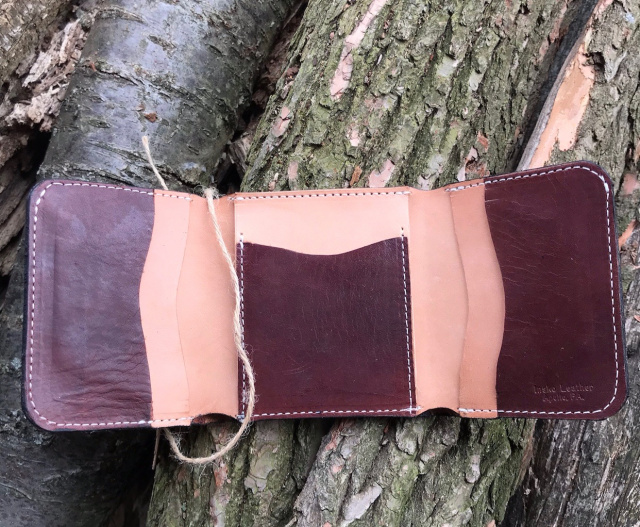 Trifold English Bridle Leather Shotgun Shell Wallet - Insko Made