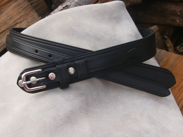 "1 1/4"" English Bridle Leather Ranger Belt"
