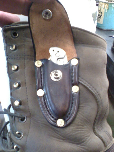 Knife Sheath on Boot