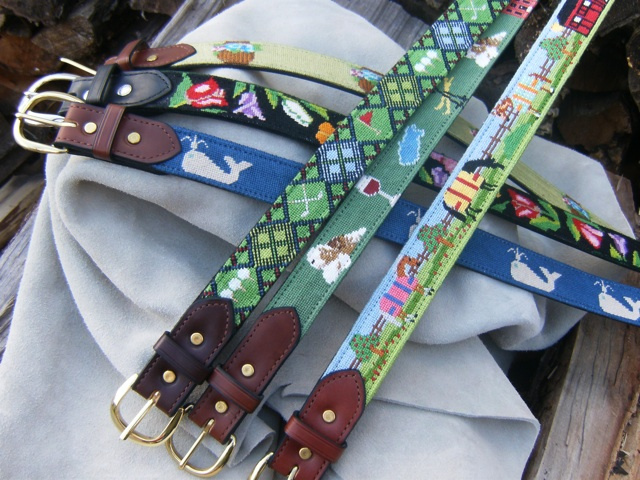 "1 1/2"" Needlepoint Belt Finishing"