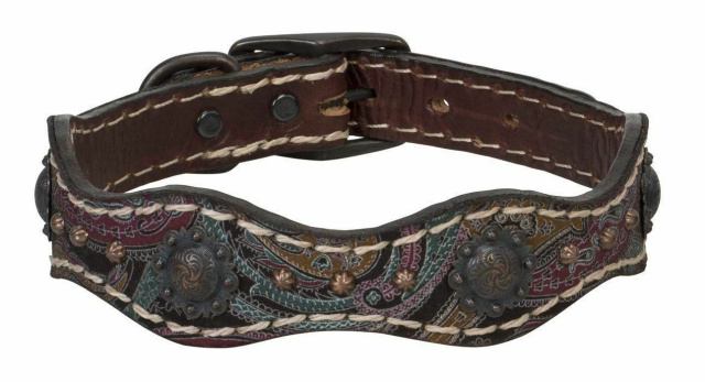 "Weaver Common Threads Vintage Paisley Collar - Pink or Brown  - 15"" 21"" 23"" 25"""