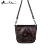 RLC-L102 Montana West 100% Real Leather Tooled Crossbody