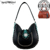 TR36G-8391 Trinity Ranch Concealed Handgun Collection Hobo Bag and Matching Wallet