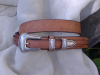 "1 1/2"" Western Rope Embossed Ranger Belt"